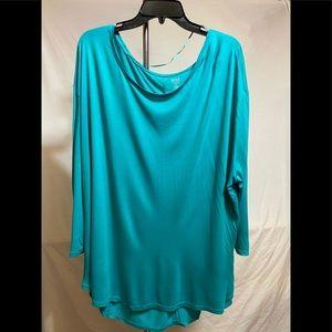 a.n.a. Turquoise shirt